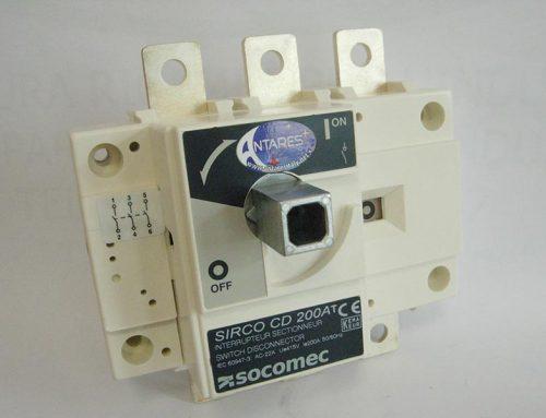 Switch disconnector SOCOMEC SIRCO CD 200 AT