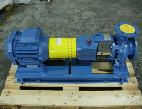 Horizontal centrifugal pumps with motor